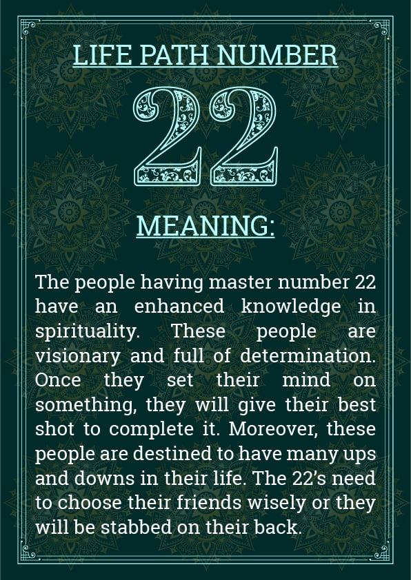 Life Path Number 22 Meaning