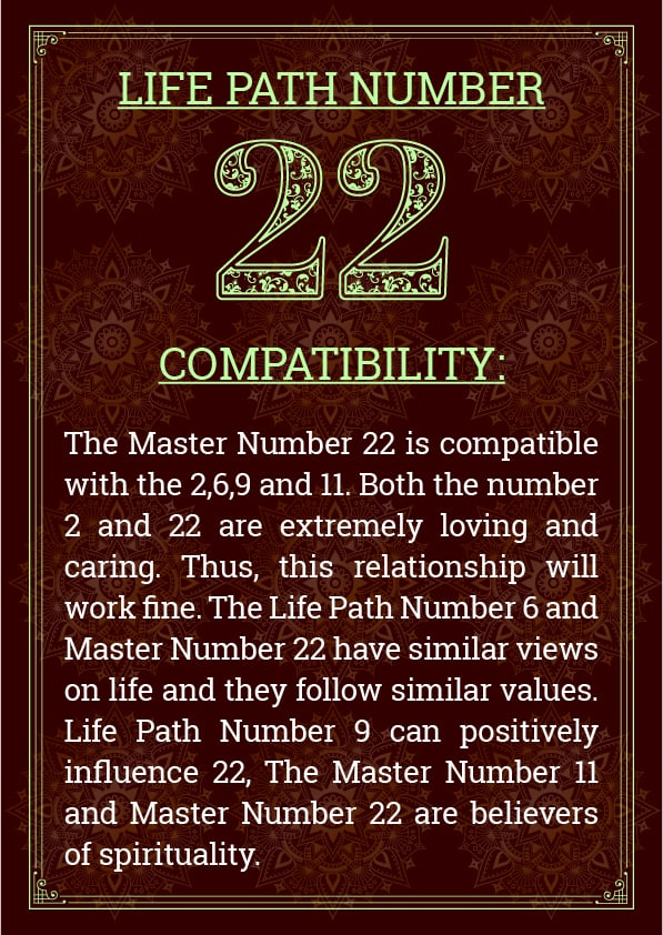 Life path number 22 compatibility