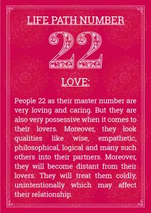 Life Path Number 22 Love