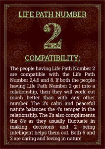 Life Path Number 2 Compatibility