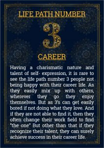 Life Path Number 3 Career