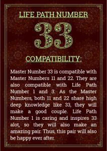 Life Path Number 33 Compatibility