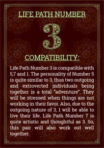 Life Path Number 3 Compatibility