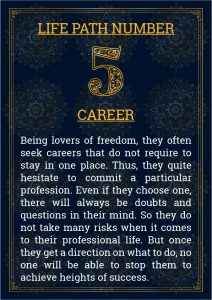 Life Path Number 5 Career
