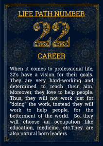Life Path Number 22 Career
