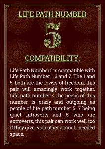 Life Path Number 5 Compatibility