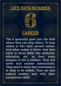 Life Path Number 6 Career