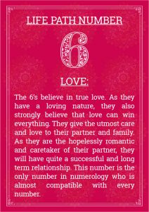 Life Path Number 6 Love