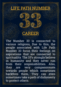 Life Path Number 33 Career