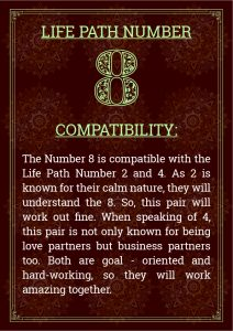 Life Path Number 8 Compatibility