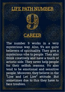 Life Path Number 9 Career
