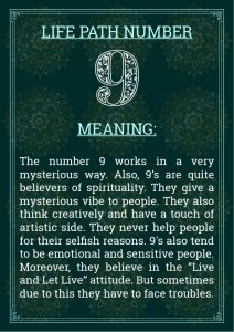 Life Path Number 9 Meaning